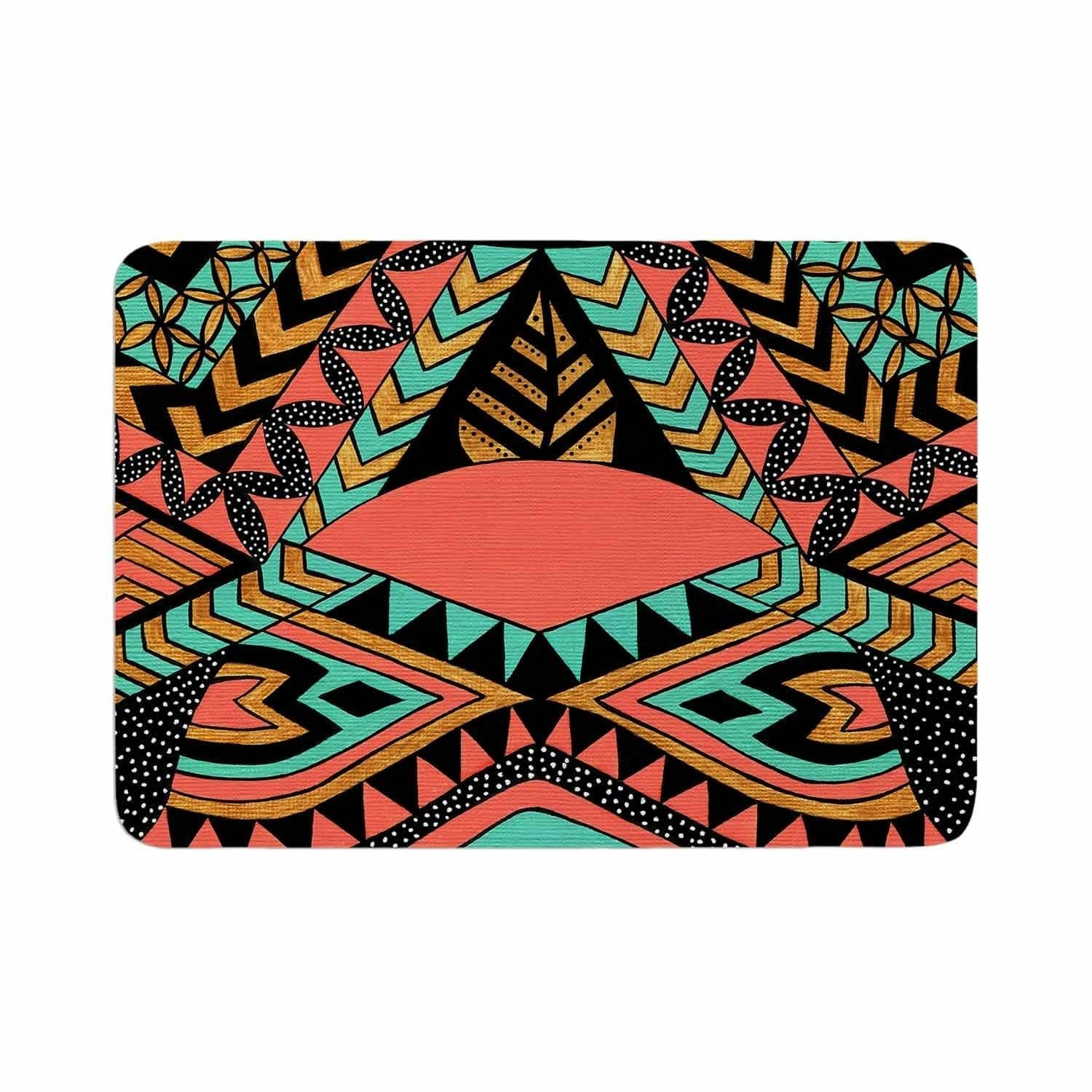 Pom Graphic Design Perunative Memory Foam Bath Mat Orange Kess