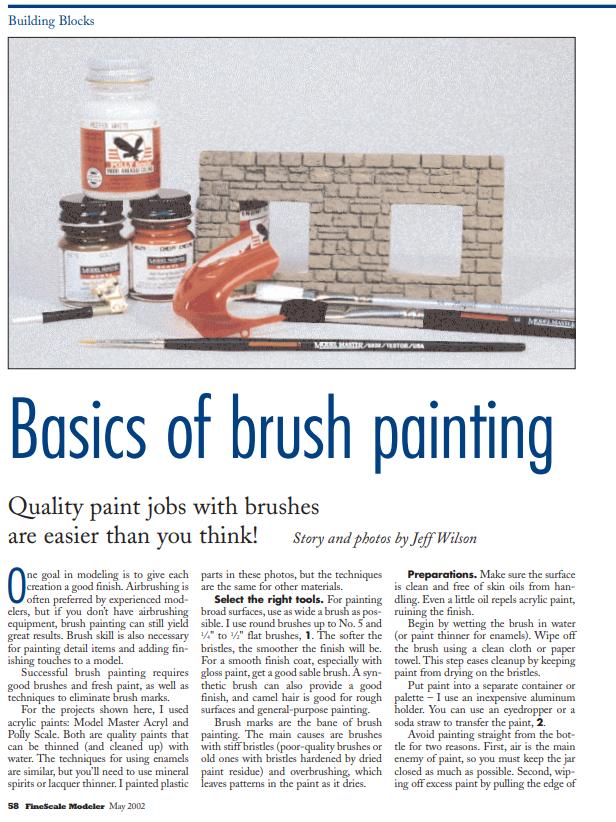 Basics Of Brush Painting Brush Basic Paint Charts