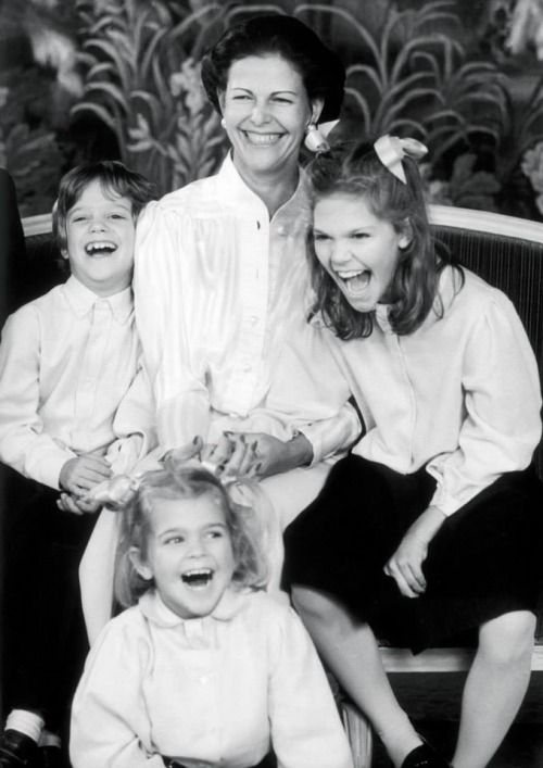 Queen Silvia, Princess Victoria, Prince Carl Philip, Princess Madeleine