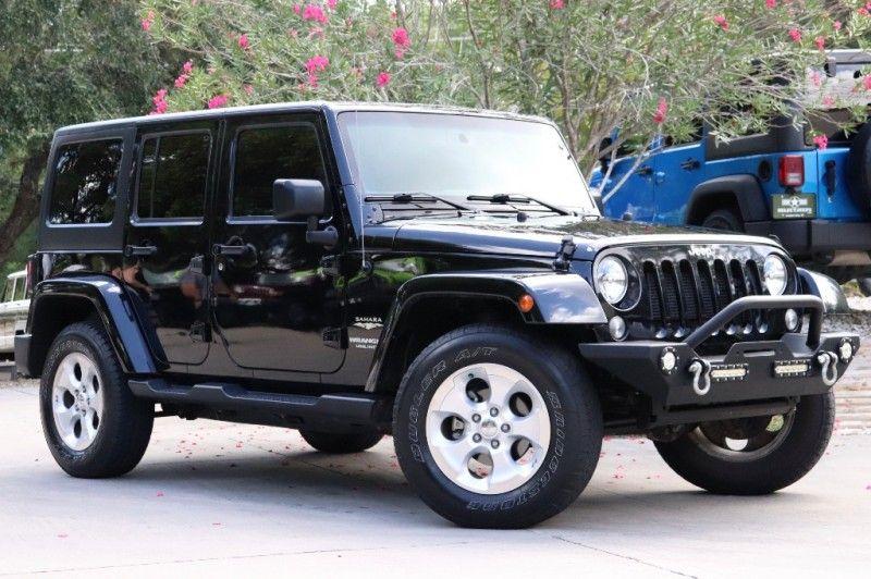2015 Black Unlimited Wrangler Sahara 98k Miles 3.6L V6