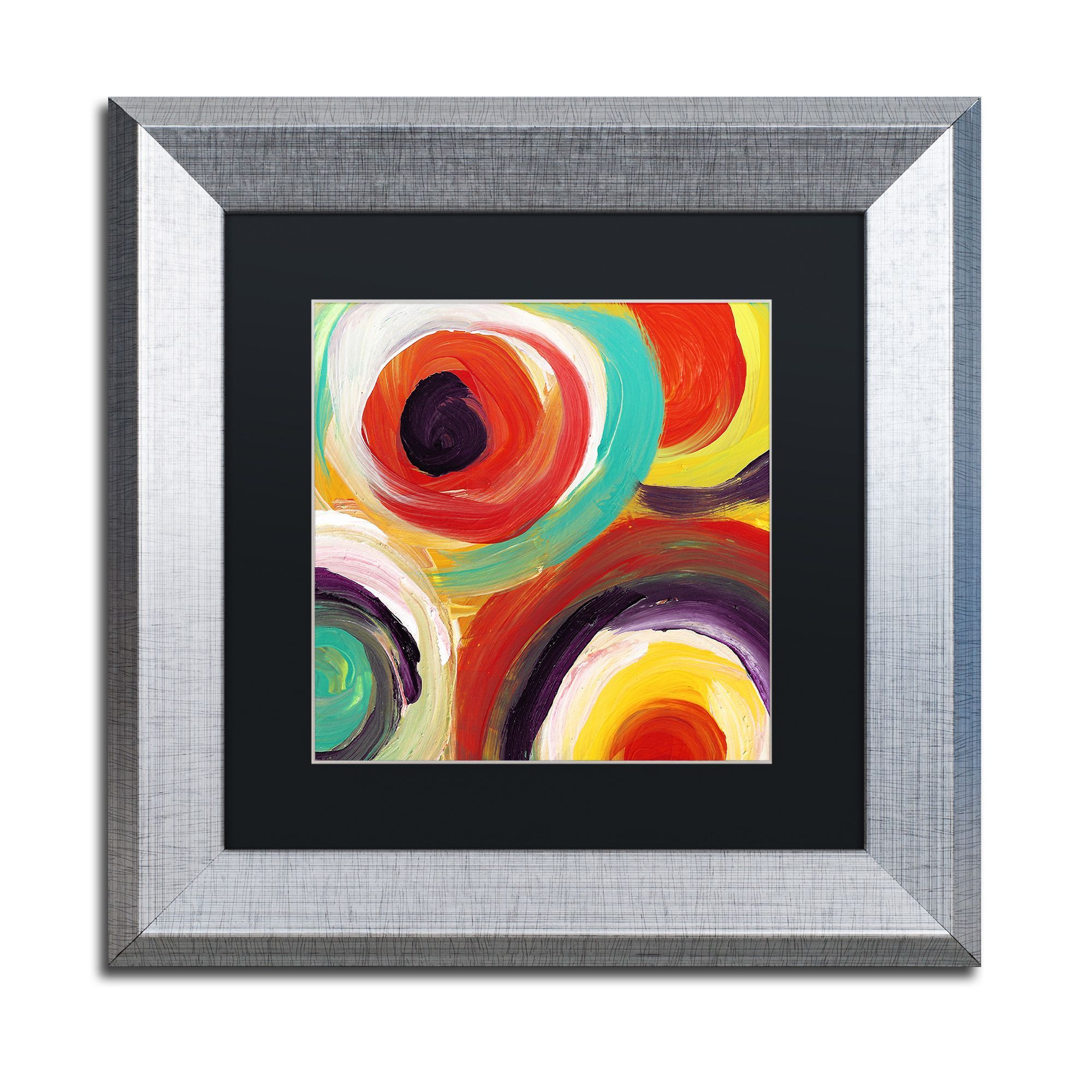 Amy Vangsgard Bright Bold Circles Square 2 Matted Framed Art