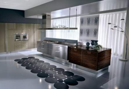 Best Ex Display Pedini Zebrano Stainless Steel Kitchen Island 400 x 300