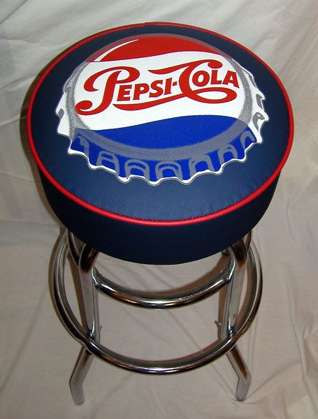 Pepsi Pepsi Cola Soda Bottle Cap Sign Bar Stool Pepsi