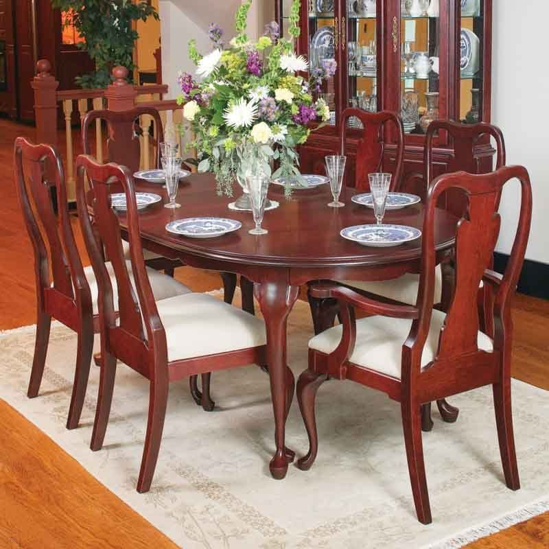 Beautiful 10 Piece Queen Anne Cherry Dining Room Suit Wood