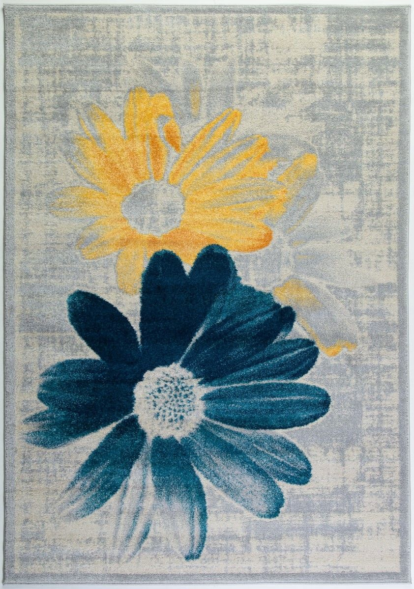 Teal gray area rug abstract design area rug teal contemporary area teal yellow flower area rug flowers teal yellow grey cream mightylinksfo