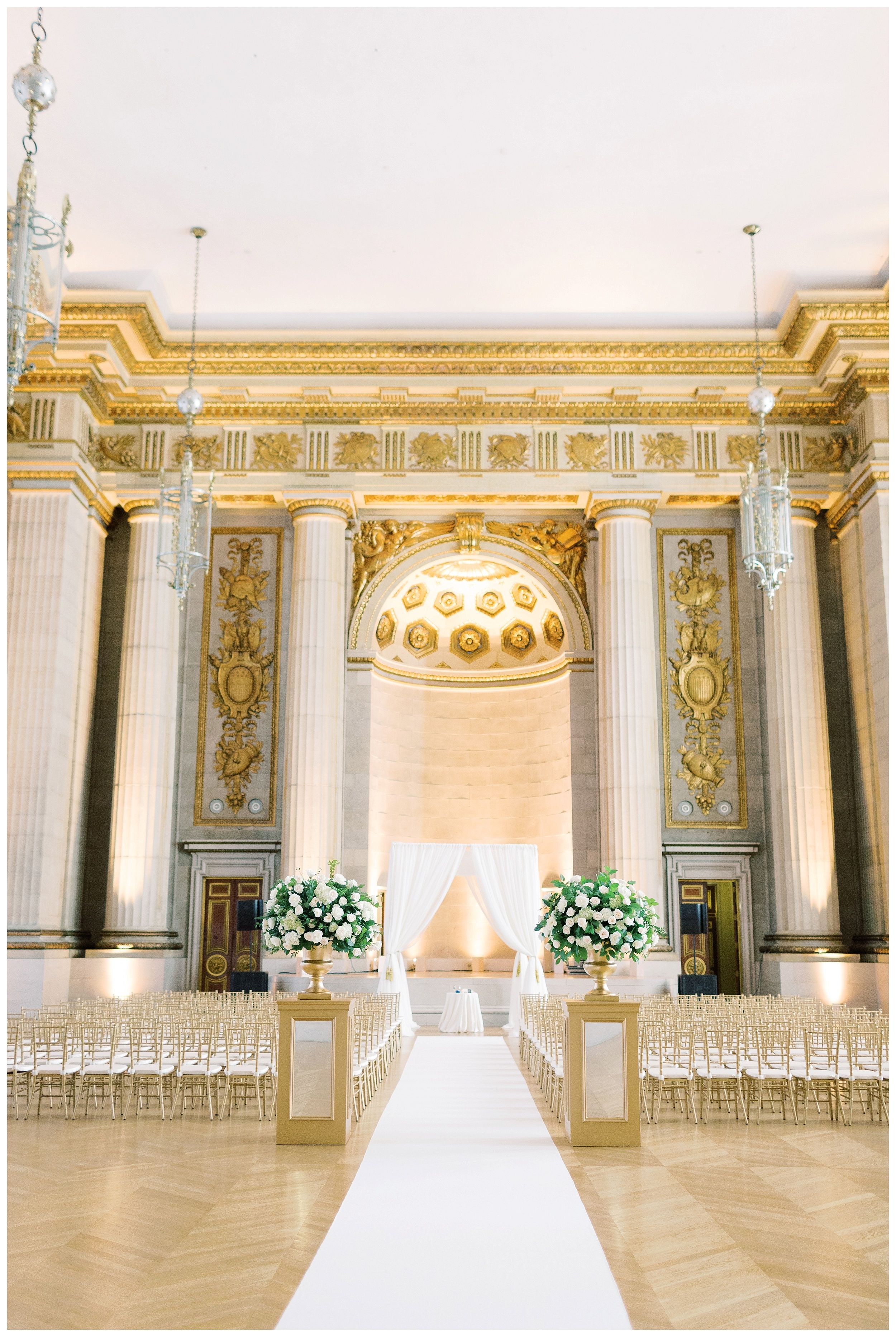 Andrew mellon auditorium wedding indoor wedding