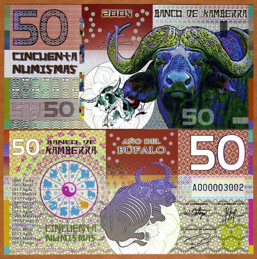 Kamberra 50 Numismas UNC /> Rabbit China Lunar Year 2011 Kingdom