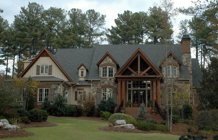 Brick And Wood House Brick Wood Stone Dream Home Facade House House In The Woods Modern House Exterior