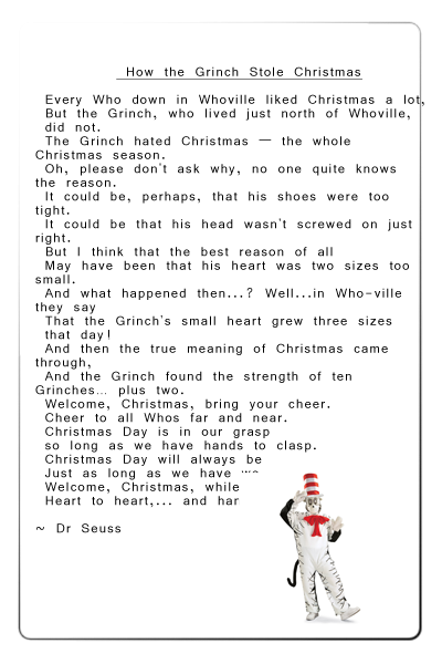 how the grinch stole christmas poem text