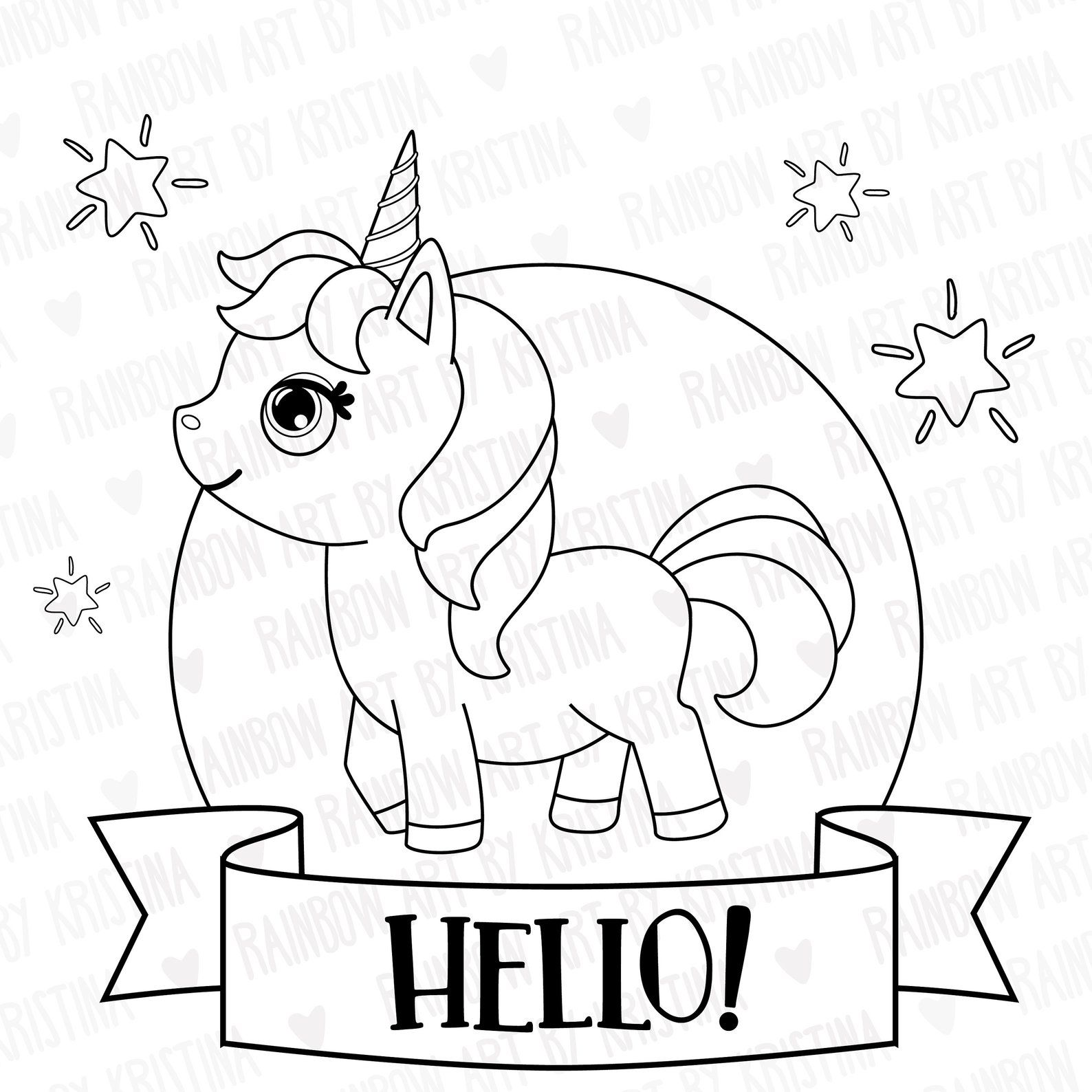 Digital Stamp Cute Birthday Baby Unicorn Clip Art Etsy Baby Unicorn Digital Stamps Birthday Presents For Mom