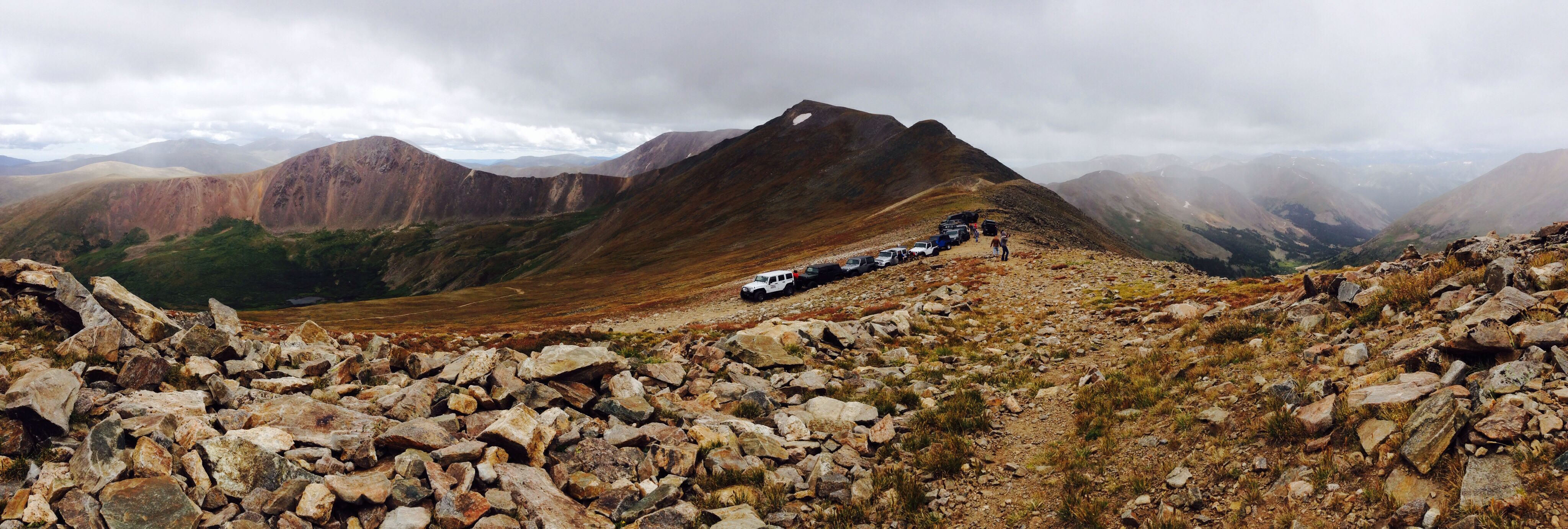 Greetings from 13,100 ft.   Trail Jeepers group run up Argentine Pass