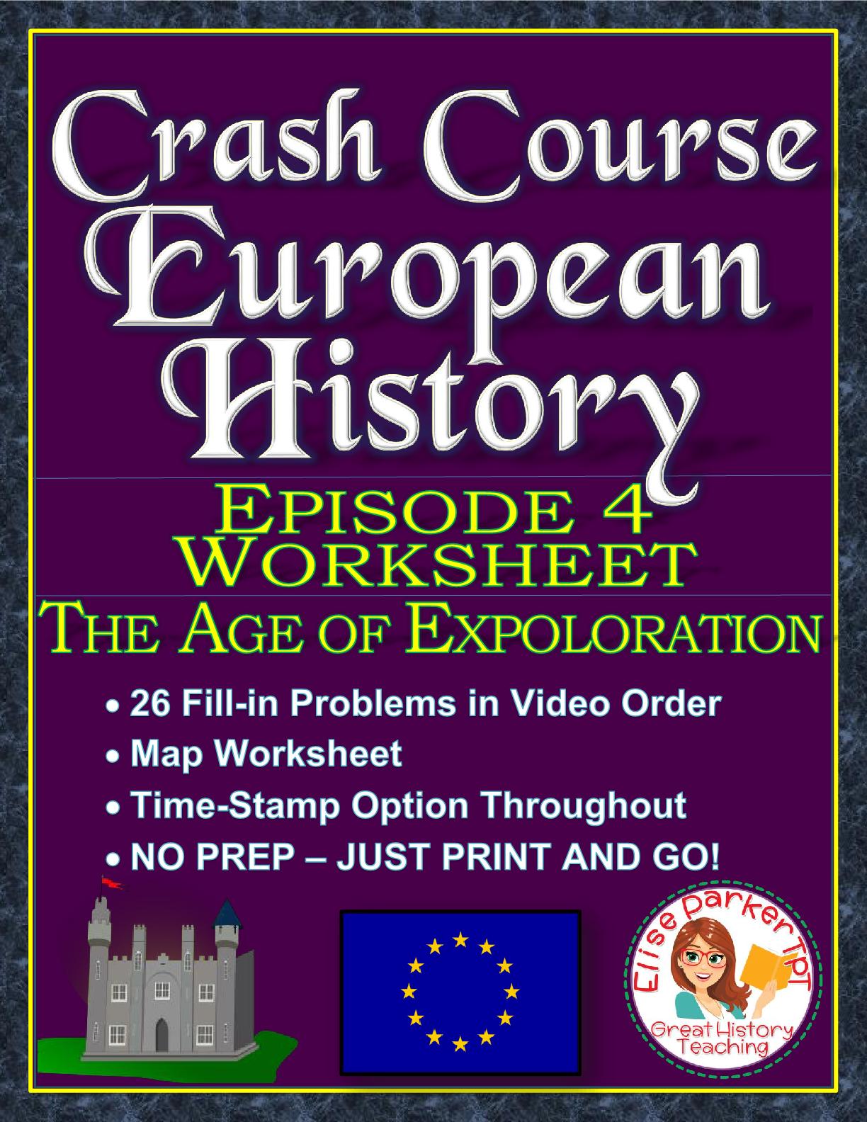 Crash Course European History Episode 4 Worksheet Age Of