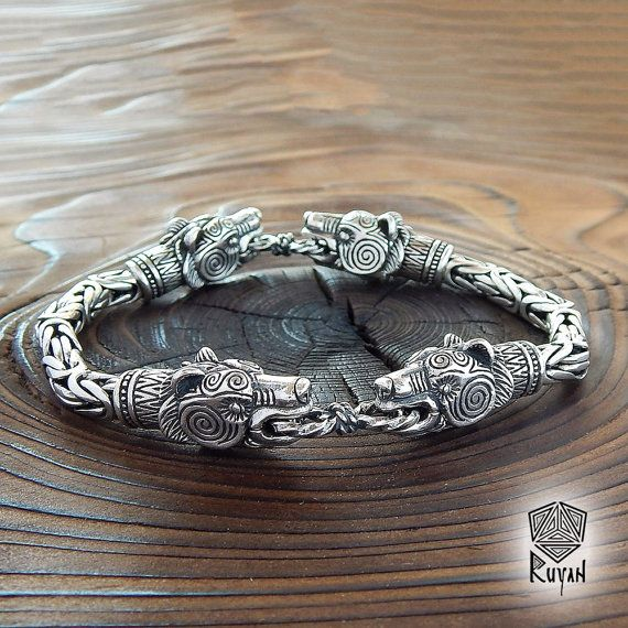 901717b0dc88 Viking WOLF Bracelet. BEARS jewerly viking Raven Eagle Lynx Vikings ...