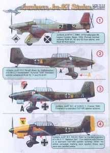 Print Scale Decals 1 72 Junkers Ju 87 Stuka Dive Bomber Model Planes Model Aeroplanes Rc Model Aircraft