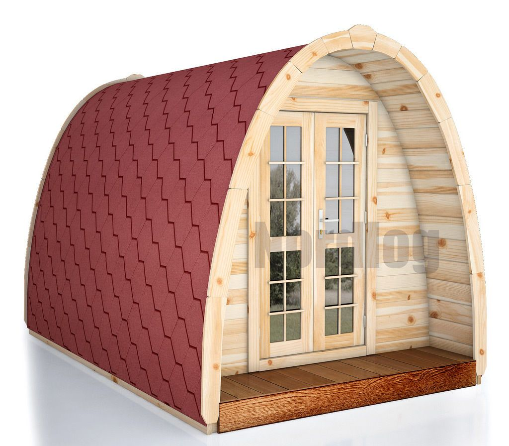 nordlog camping pod 2 4 x 4 8m haus campinghaus ferienhaus gartenhaus holz ebay tree houses. Black Bedroom Furniture Sets. Home Design Ideas