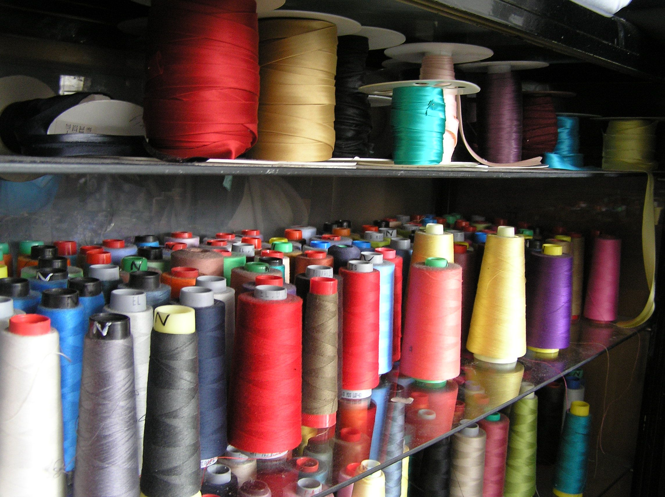 sewing threads...