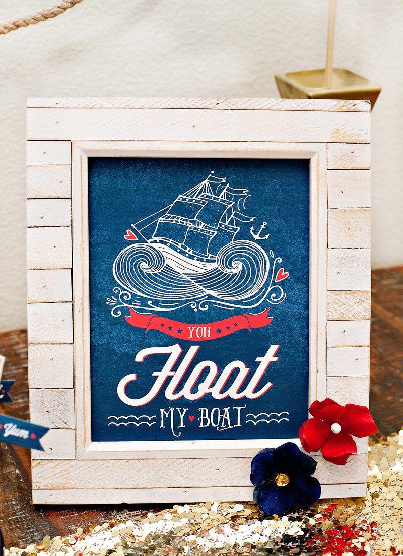 printable nautical sign