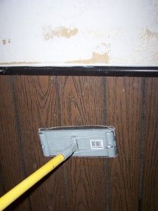 Sanding Faux Wood Paneling
