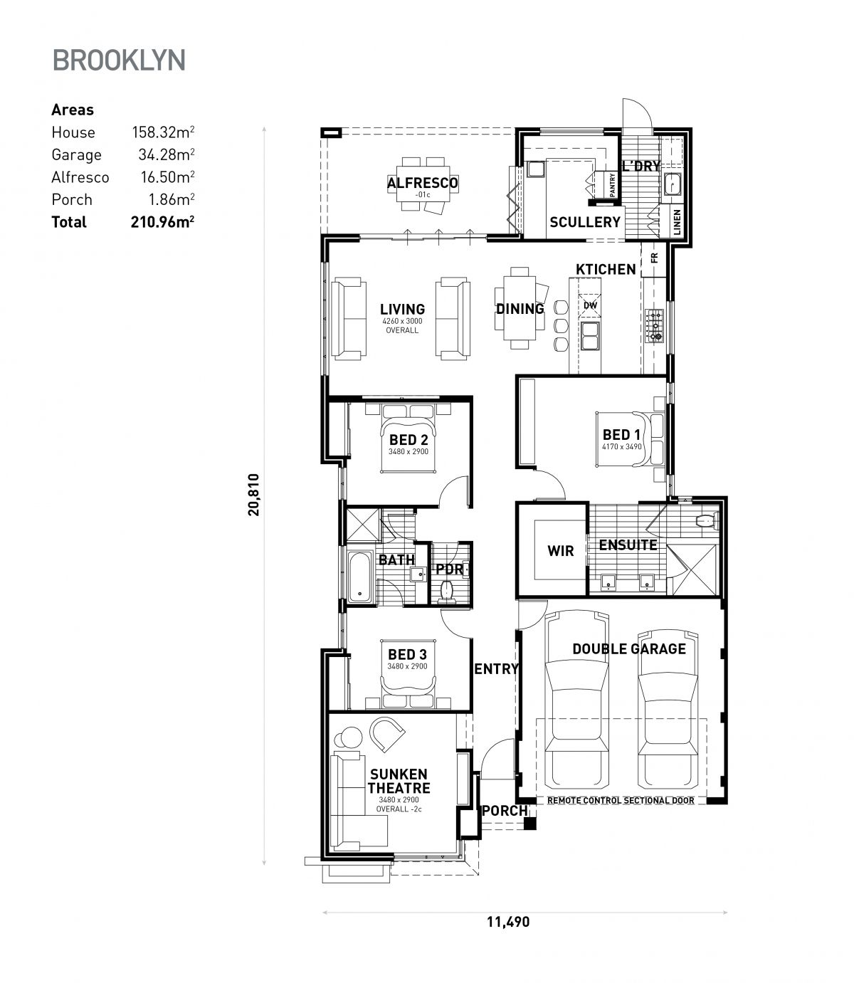 The Brooklyn Ideal Homes House Plans House Floor Plans New House Plans