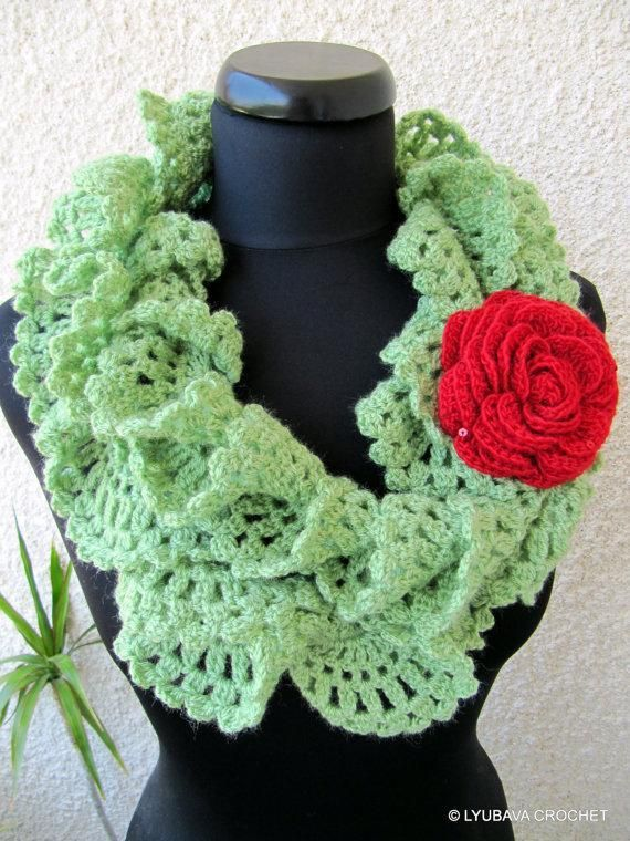Crocheting: Ruffle Lace Scarf Tutorial. I would probably use ...