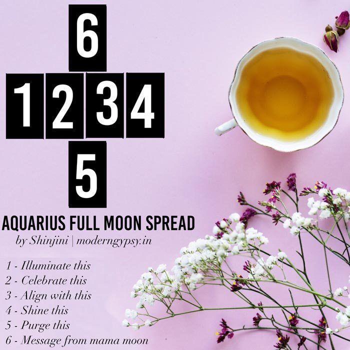 August 2019: Tarot spread for the full moon in Aquarius | Modern Gypsy