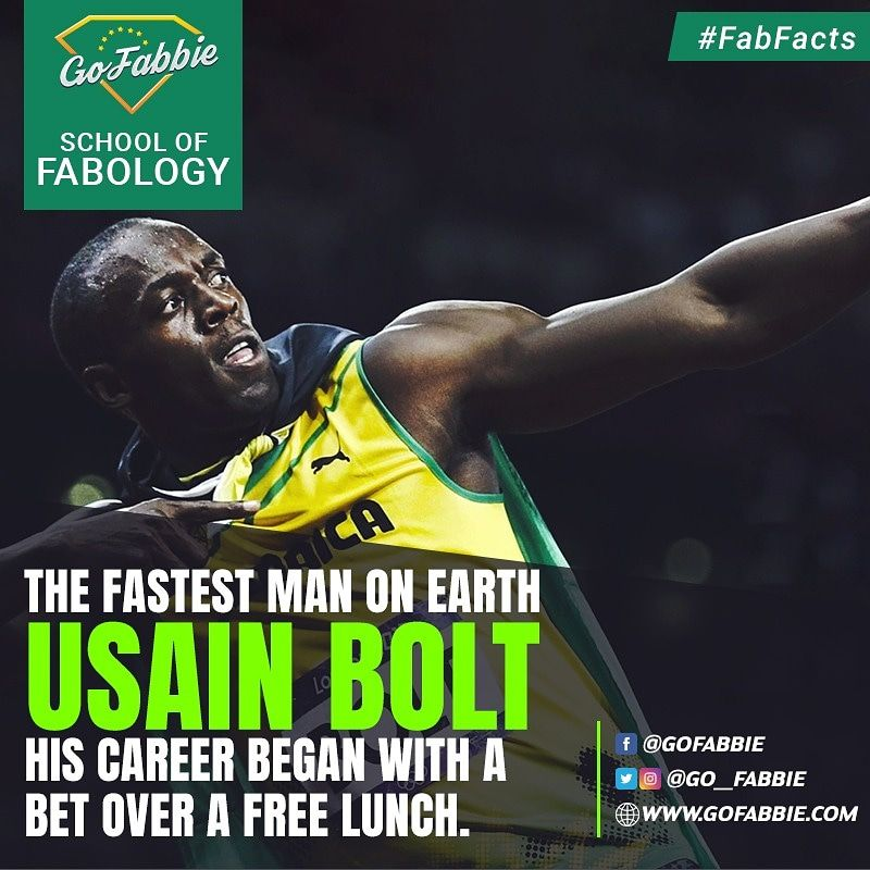 The Fastest Man on Earth, Usain Bolt; His career began