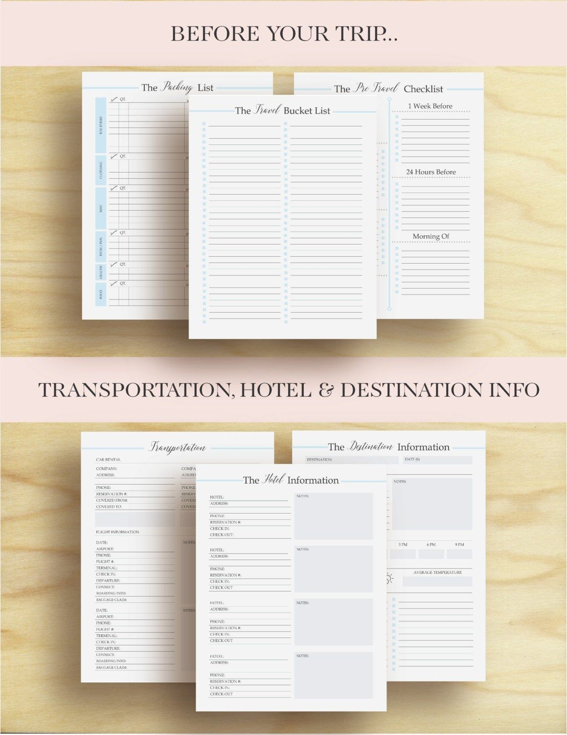 Vacation Planner Travel Planner Trip Planner Vacation