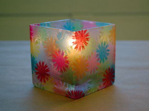 How to Decorative a Votive Holder like Stained Glass | Make: | MAKE: Craft