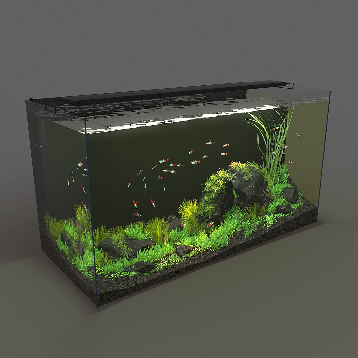 3d Model Aquarium 120l 32g 3d Model Aquariums Pinterest