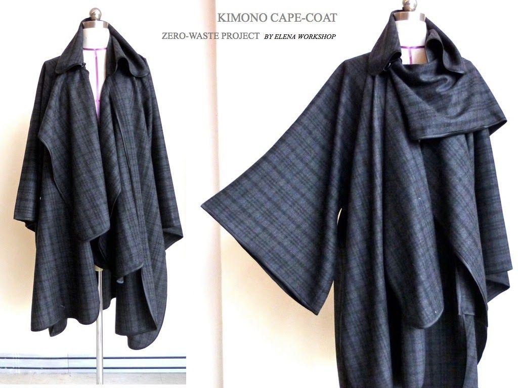 Elena Fashion Design Workshops : Zero-Waste, Kimono Cape-Coat ...