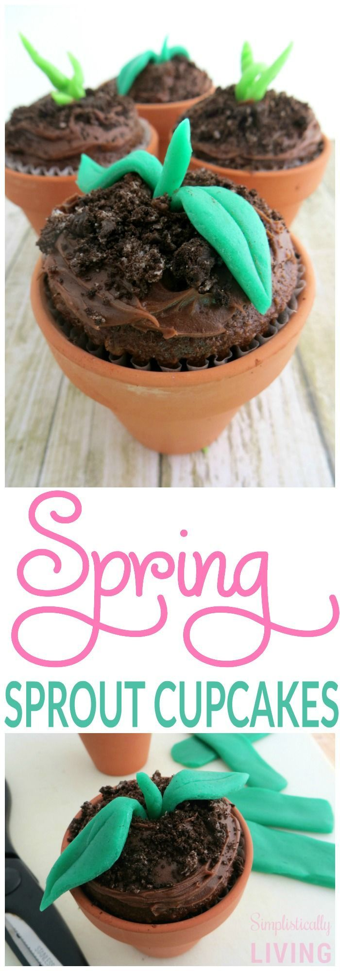 SPRING SPROUT CUPCAKES