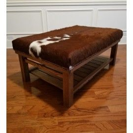 Beautiful Handmade Brazilian Cowhide Coffee Table Ottoman
