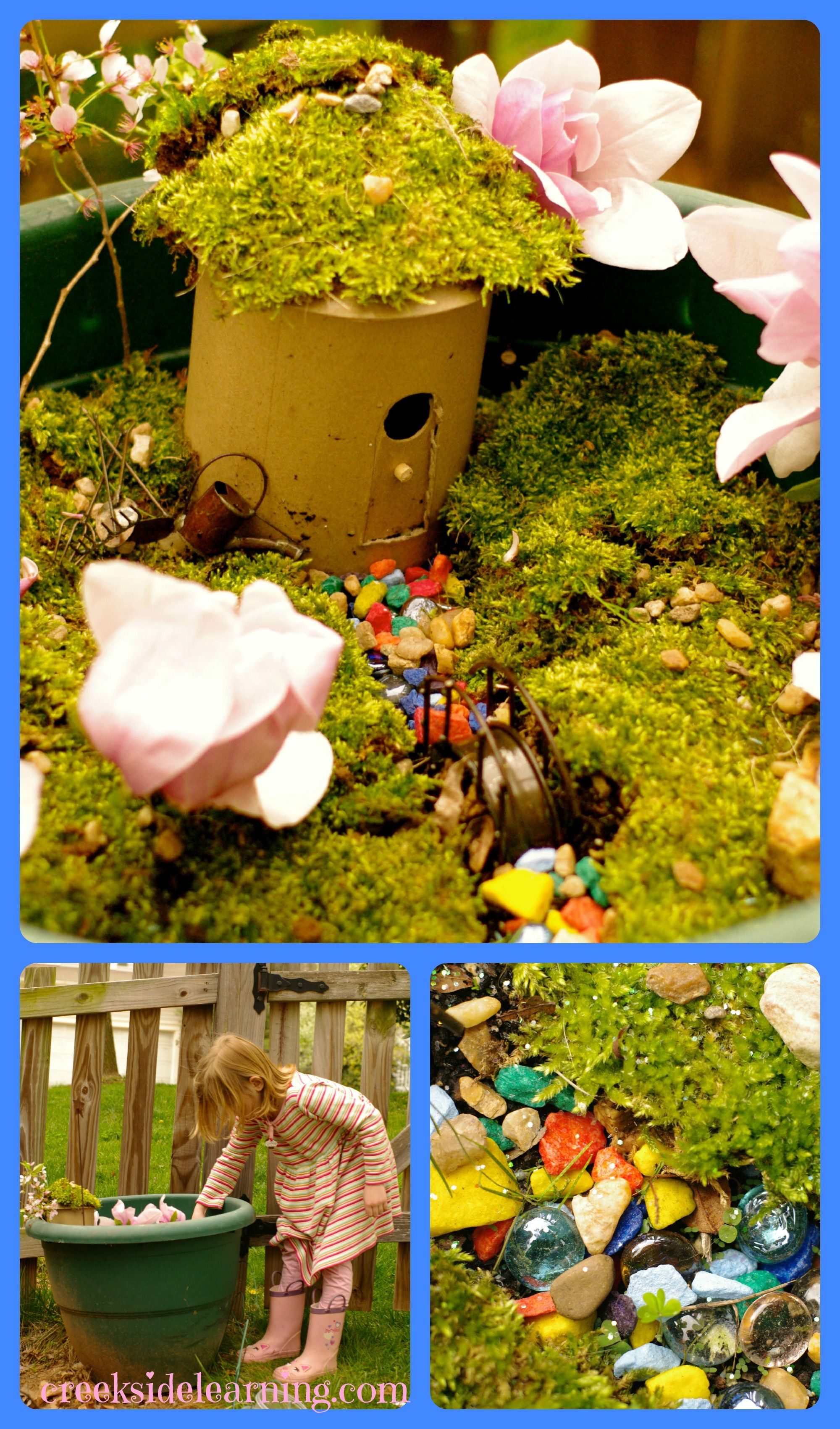 Graceful Kids Fairy Gardens Make An Easy Fairy House Fairy Garden From Creeksidelearning A Fairy House Garden Kids Fairy Fairy Kids To Make