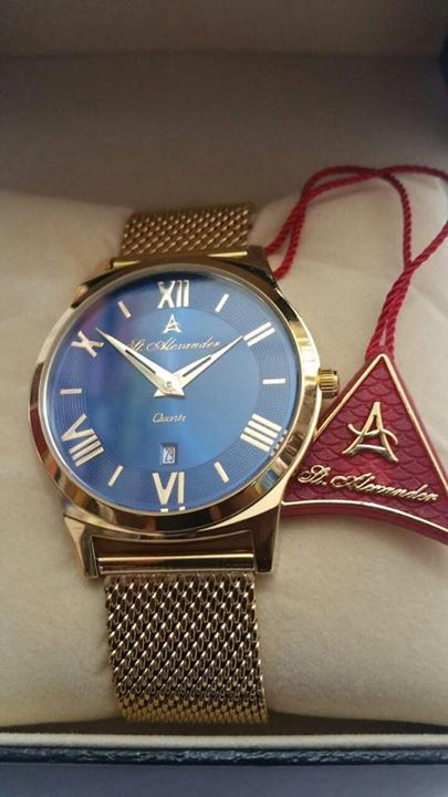 9a3fce27f6f St Alexander gold watches in stock for cool price with blue Dial and white  Dial comes with date function call us Now for your order 0548491455 or  WhatsApp ...