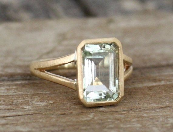 8.50 Ct Emerald Gorgeous Genuine Ametrine Engagement Ring 10K Real White Gold