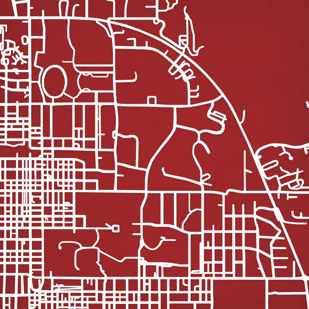 Indiana University Campus Map Art Maps
