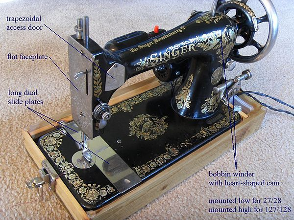 Singer Model 40 And 140 Wikipedia Antique Sewing Machine Inspiration Sewing Machine Wikipedia