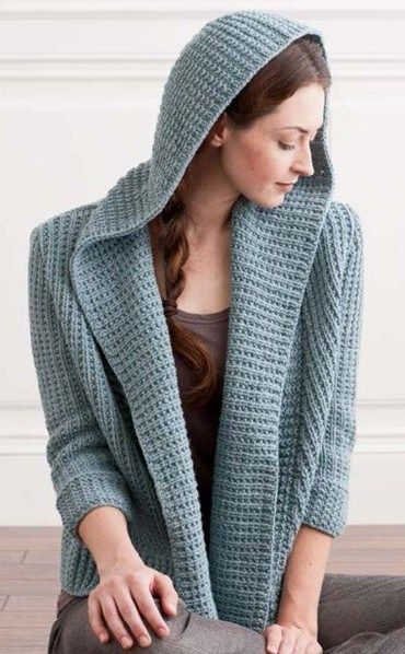 Knitting Pattern For Osprey Hooded Cardigan And More Hoodie Knitting