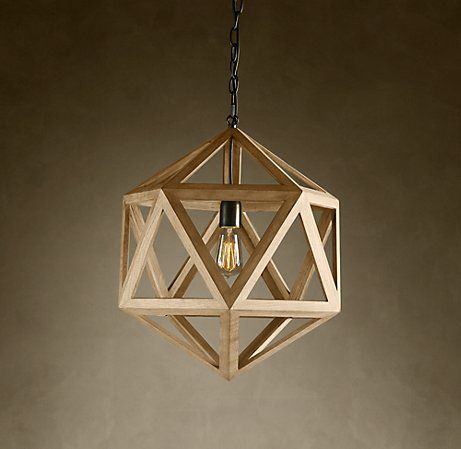 restoration hardware wood pendant lamp And There Was Light Pinterest