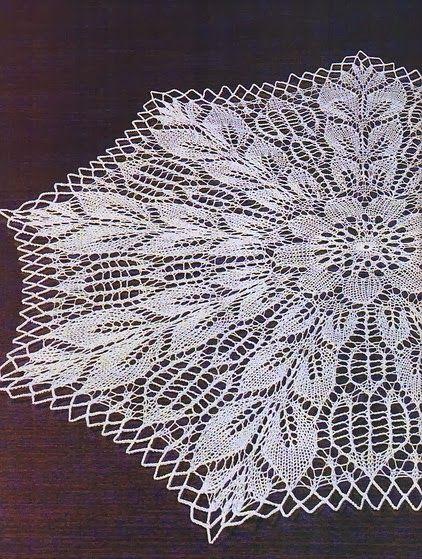 Art Knitted Tablecloth Dkar Pinterest Lace Knitting Crochet