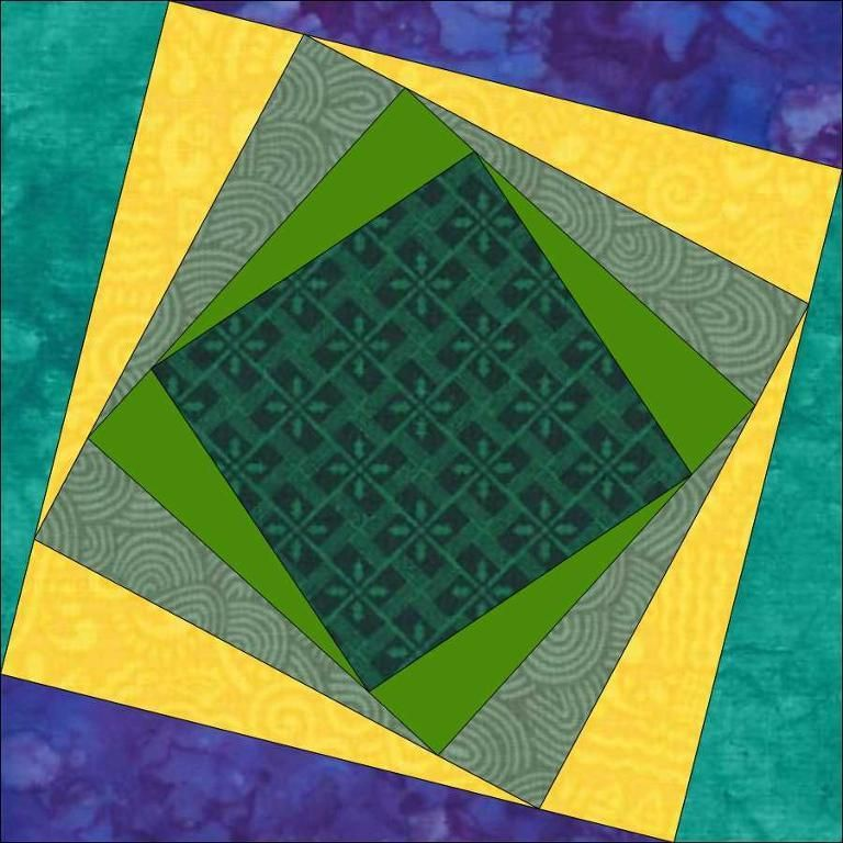 "African Jewel 10"" (25cm) block - paper pieced in one go quiltartdesigns.blogspot.com"