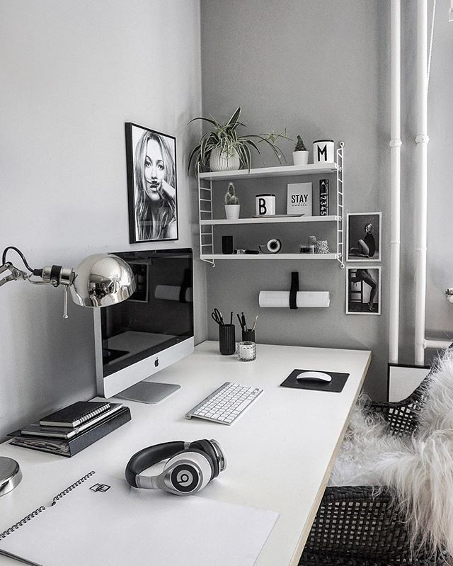 OFFICEat Home Black And White Houses Rooms And Furniture Awesome Office At Home Furniture
