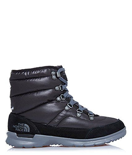350e3e7b The North Face ThermoBall Lace II Shiny TNF BlackIron Gate Grey Womens  Pullon Boots ** You can get more details by clicking on the image.