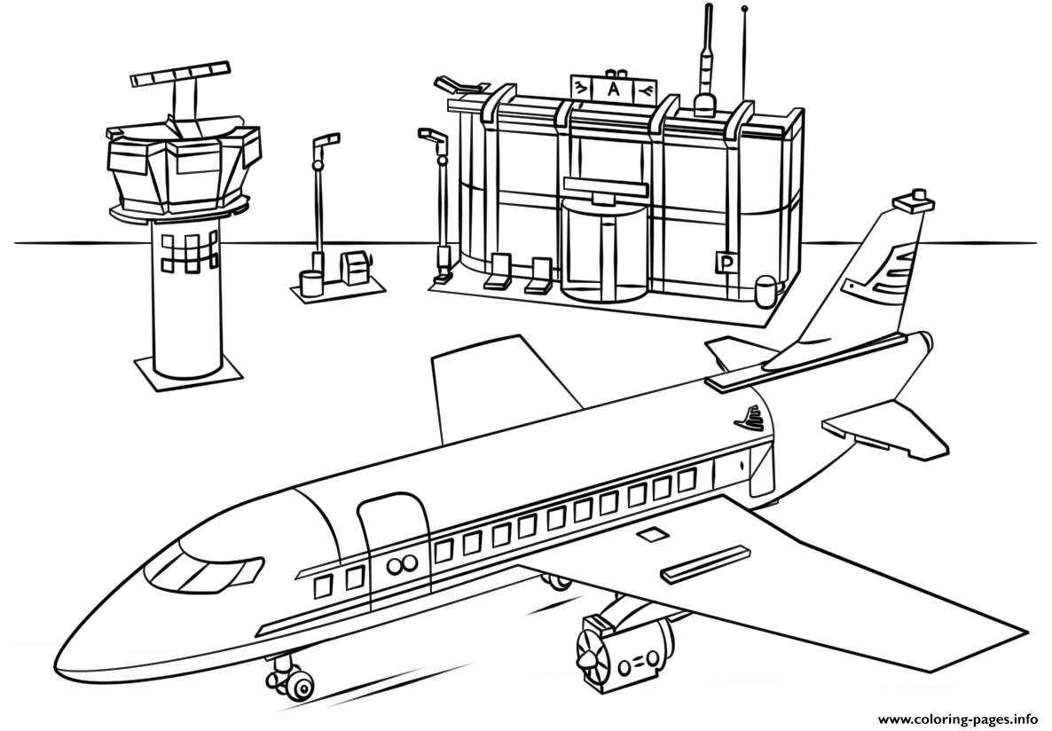 Print Lego Airport City Coloring Pages Train Coloring Pages Coloring Pages Lego Coloring Pages