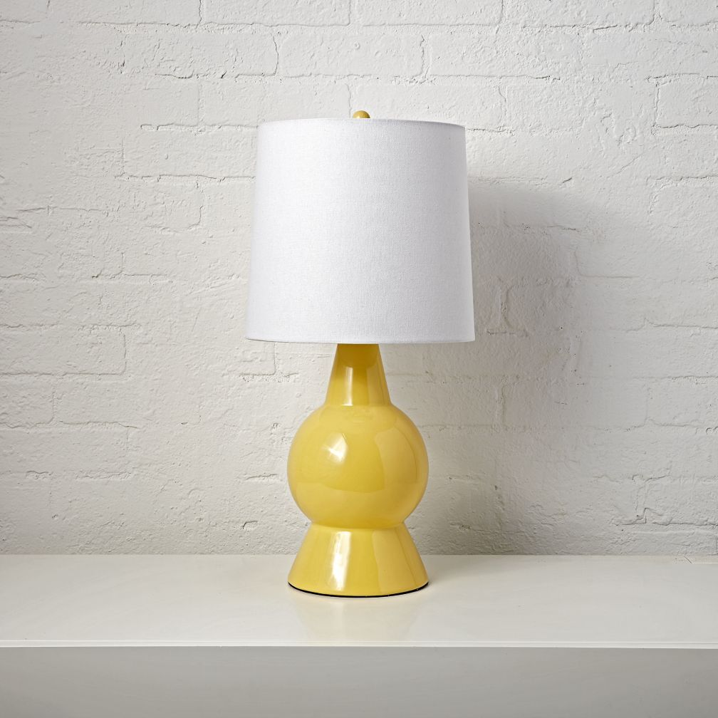 Beacon Yellow Table Lamp Beacon Yellow Ceramic