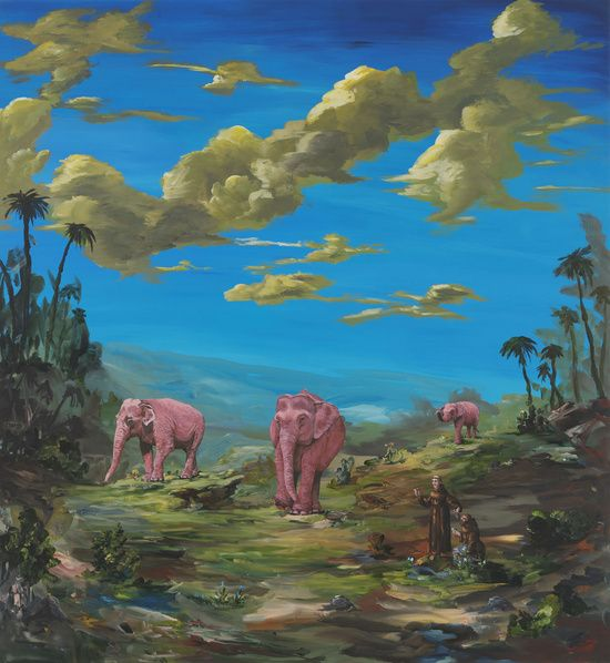 Ozbolt One for the Road, 2010  Acrylic on board  130 x 120 x 4.5 cm / 51 1/8 x 47 1/4 x 1 3/4 in