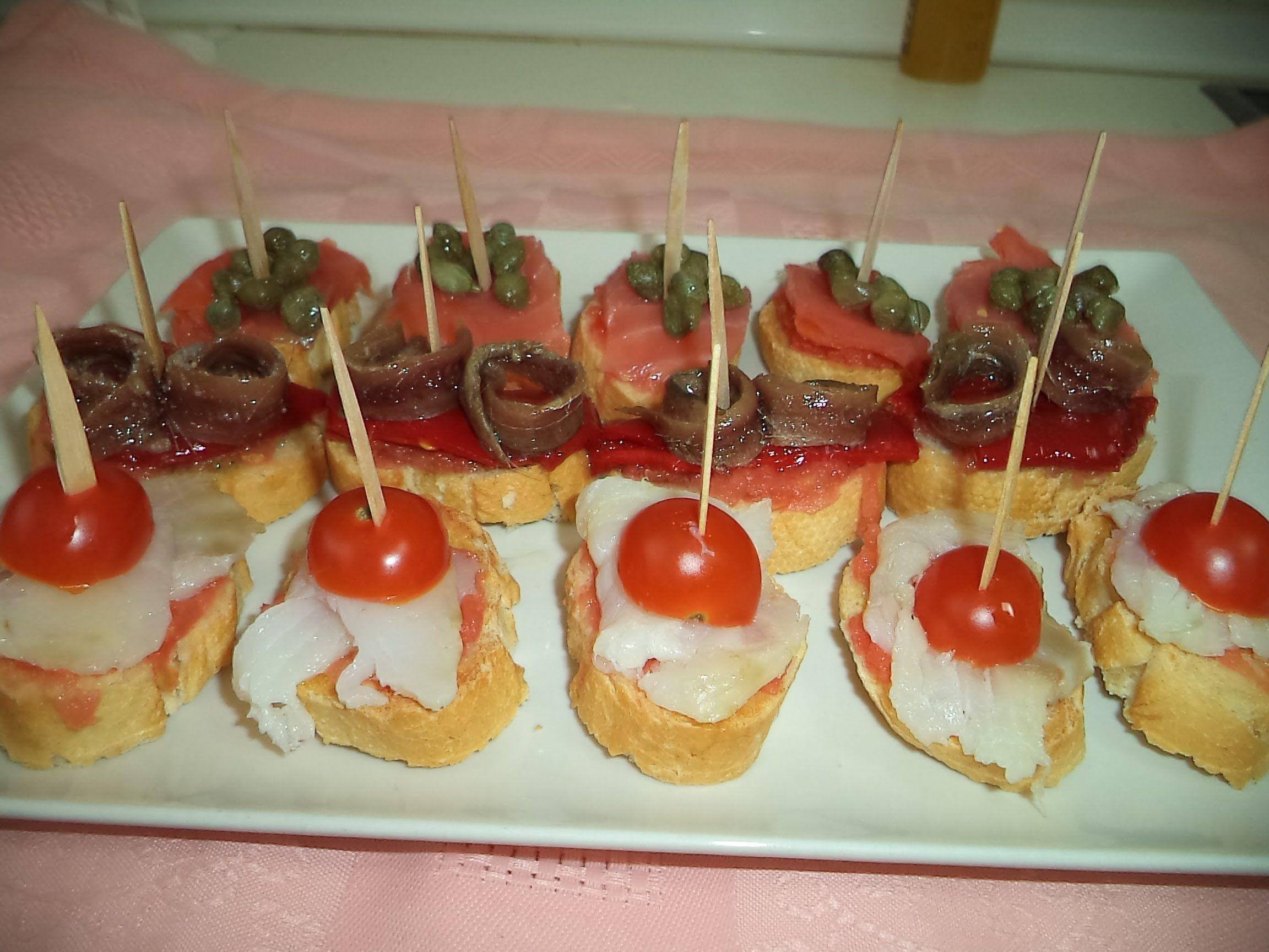 Canap s variados recetas saladas para navidad for Canapes y aperitivos