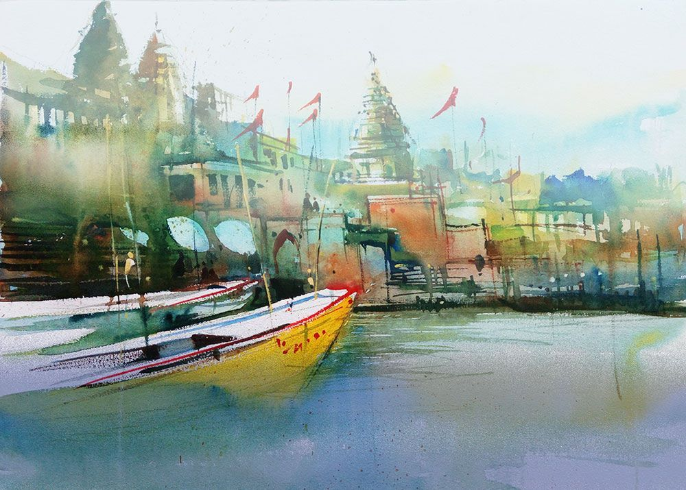 Indian Watercolor Paintings Watercolor Landscape Paintings