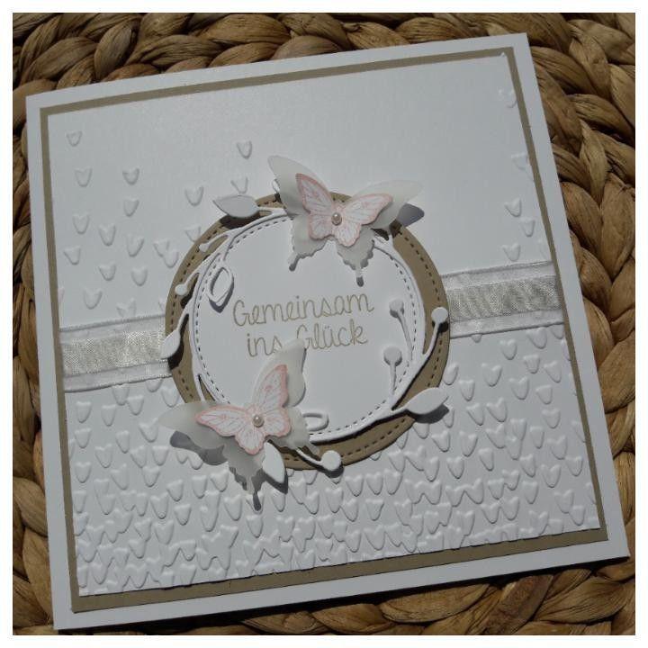 Stampin up, tarjeta de boda, tarjeta de boda vintage, popurrí de Papillon, molde de relieve …