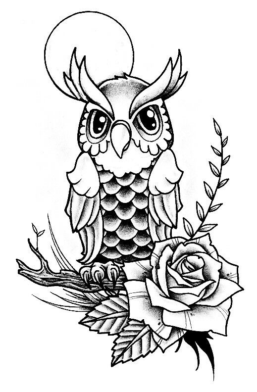 romantic owl | Projects to try | Pinterest | Dibujos para pintar ...